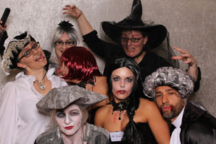 Fotobox auf Halloween-Party