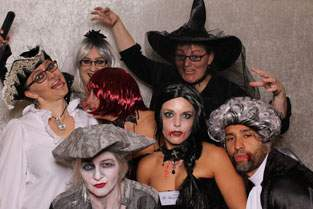 Fotoautomat auf Halloween-Party